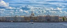 Cityscape, View Of The Neva Ri...