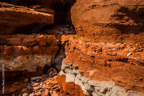 Foto op Plexiglas Canyon old clay canyon on the beach of the orange color