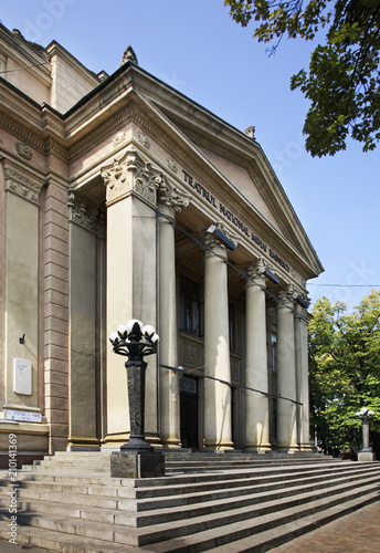 Spoed Foto op Canvas Theater Mihai Eminescu National Theatre on Stephen Avenue in Kishinev. Moldova