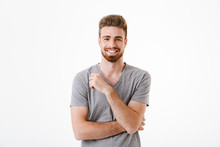 Handsome Young Man Standing Isolated Smiling