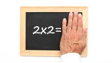 Mathématique, 2x2 = Sur Ardoise