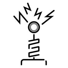 Tesla Coil Icon Vector
