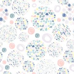 FototapetaTrendy scribbles seamless pattern in pastel colors