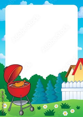 In de dag Voor kinderen Barbeque topic frame 1