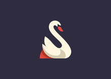 Swan Logo Vector Template Design