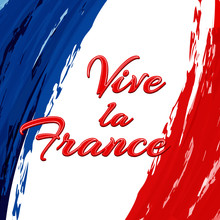 The National Flag Of France Blue White And Red Stripes Grunge Texture Viva La France Patriotic Watercolor Background Of Color Of The Flag Of France On Independence Day And Day Of The Bastille Vector