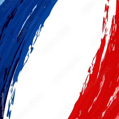 The National Flag Of France Blue White And Red Stripes