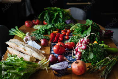 Foto op Canvas Groenten fresh vegetables on table