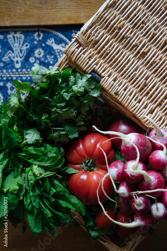 Spoed Foto op Canvas Groenten fresh vegetables on table