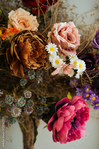Fotobehang Bloemen Beautiful floral bouquet
