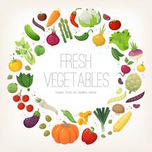 Fresh Colorful Vegetables Arra...