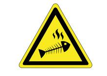 Schild Gefahr Durch Verdorbene Lebensmittel
