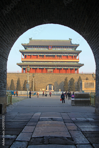 Tuinposter Peking Zhengyang gate towers in Beijing