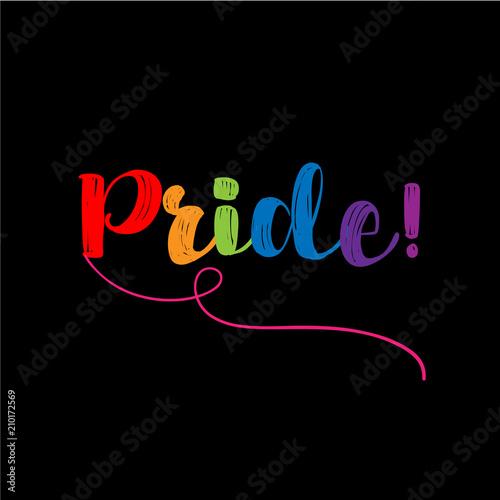 Fotografía  Pride - LGBT pride slogan against homosexual discrimination