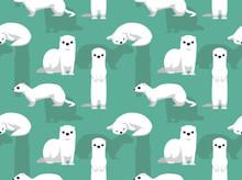 Winter Coat Weasel Cute Cartoo...