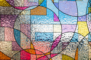 Fototapetastained colorful christ glass . abstract multicolor