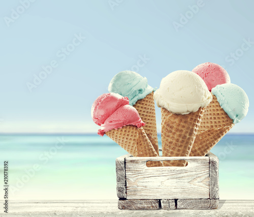 ice cream and beach