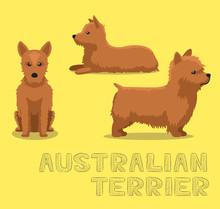 Dog Australian Terrier Cartoon...