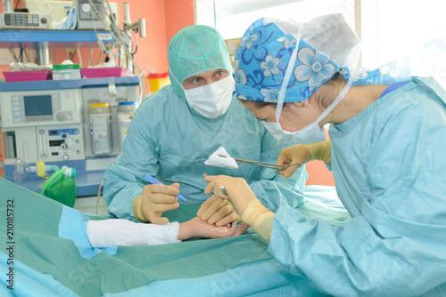 Photo primary surgical debridement