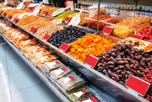 Different Dried Fruits In The Store