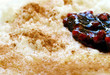 Milchreis mit Apfelmus Preiselbeeren und Zimt