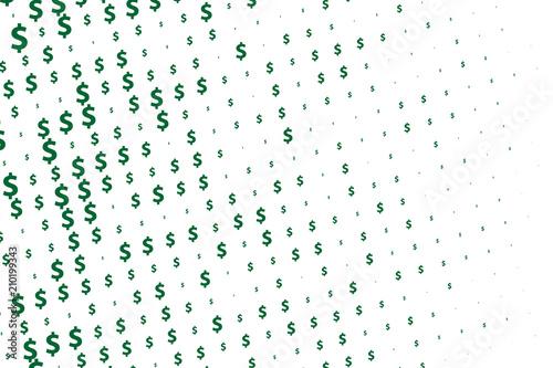 Green vector background with signs of dollars Tapéta, Fotótapéta