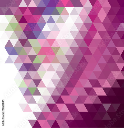 Dark Purple Pink Abstract Mosaic Pattern Colorful Abstract