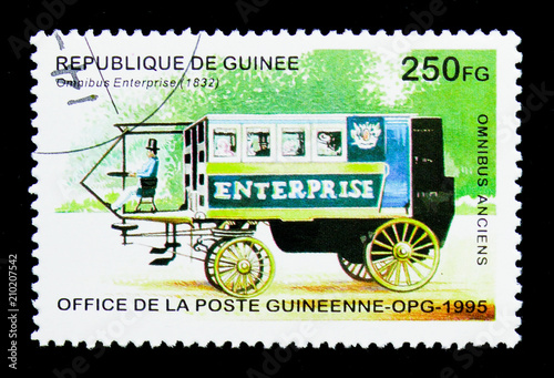 Fotografia  Omnibus Enterprise - 1832, Historic Buses serie, circa 1995