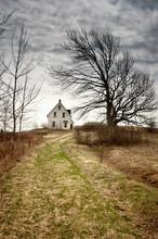 Creepy Abandoned House On A Hi...