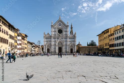Fotografie, Obraz  Piazza Santa Croce, Firenze