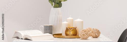 Fototapeta Decorative home accessories on table obraz