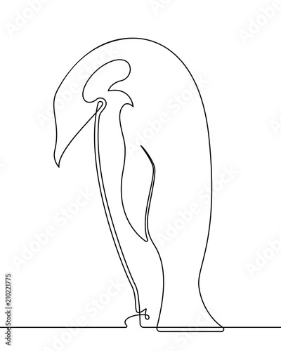 Penguin Continuous Line Drawing 2