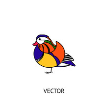 Mandarin Duck Bird Icon
