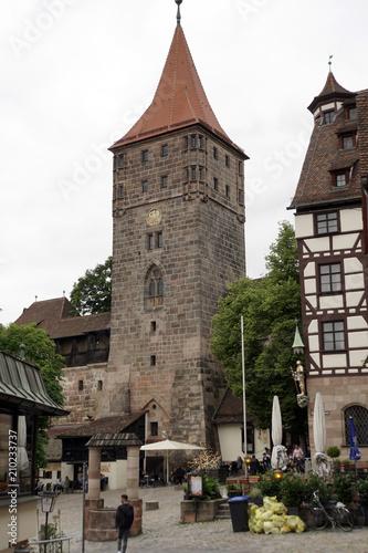 Foto  Historische Altstad tNürnberg - Tiergärtnertor, Tiergärtnertor