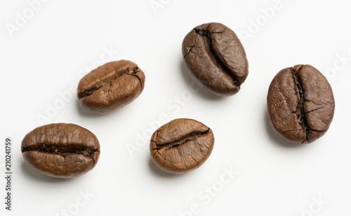 close up of dark roasted fair trade coffee beans