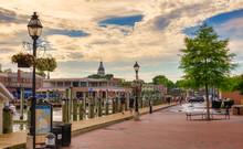 Annapolis Main Harbor At Sunset