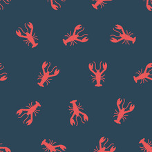 Vector Pattern With Crayfish