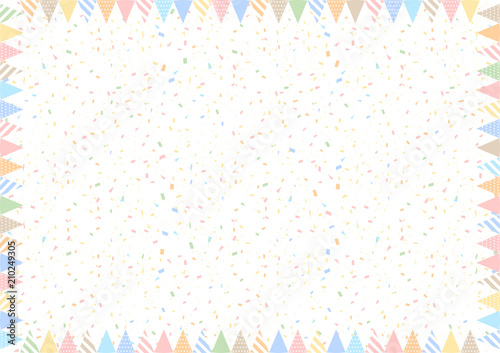 Obraz 紙吹雪 フラッグ フレーム - fototapety do salonu