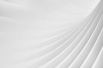 Abstract background from a serpentine flowing waves. 3d illustration