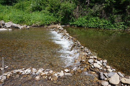 Staande foto Rivier Clean mountain river/ stream