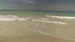 Beautiful Caribbean beach on a cloudy day.