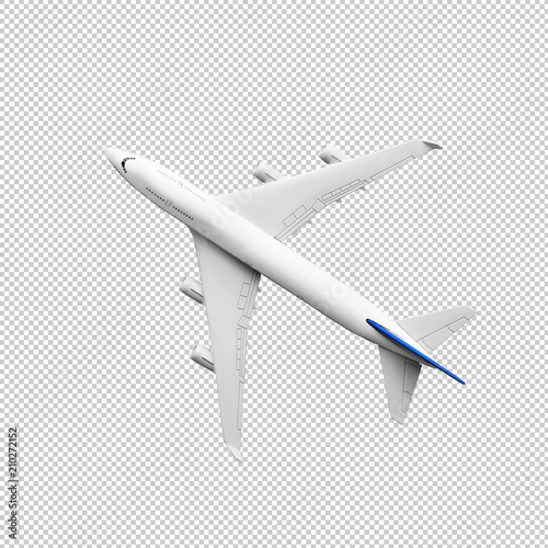 Model plane,airplane mock up.clipping path Wall mural