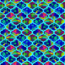 Bright Tiles Curly Eastern Geo...