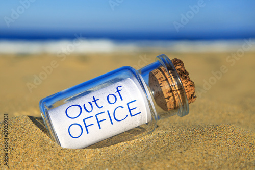 Out of office Fototapet