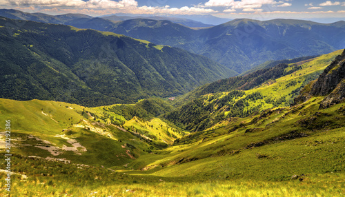 Beautiful landscape in the high mountain