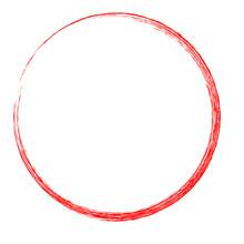 Red Circle Crayon Frame