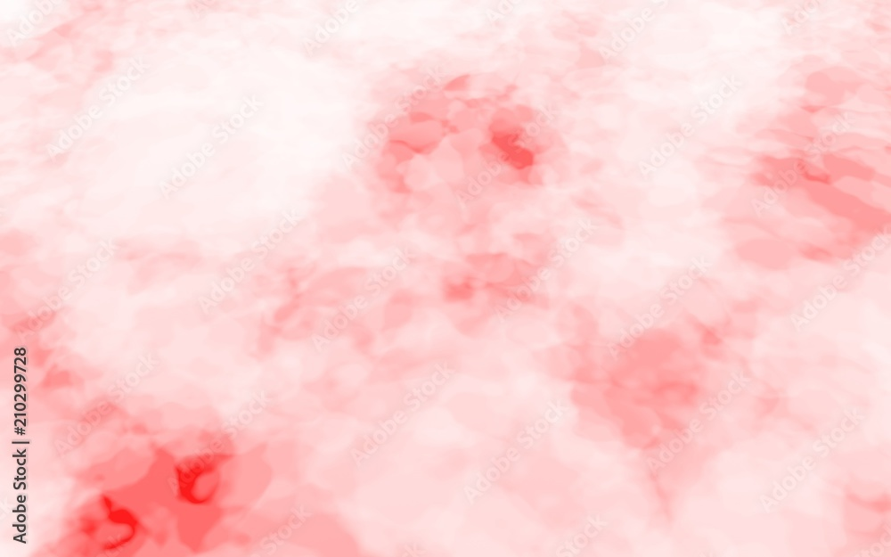 Fototapety, obrazy: Background of abstract white color smoke isolated on red color background. The wall of white fog. 3D illustration