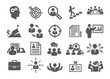 Leinwanddruck Bild - Job icons set