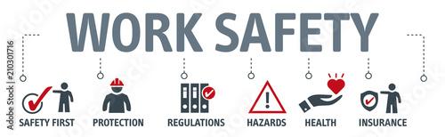 Fotografía  Banner Standard construction safety concept