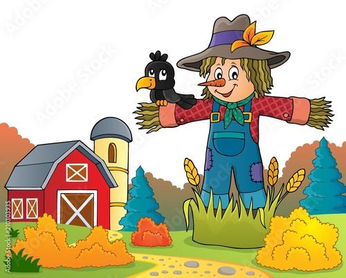 In de dag Voor kinderen Scarecrow theme image 6